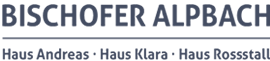 Bischofer Alpbach Haus Andreas – Haus Klara – Haus Rossstall Logo